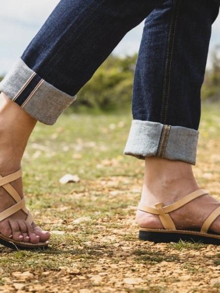Sandales romaines brides fines