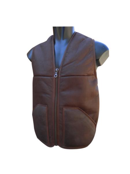 Gilet Peau lainée