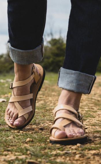 Sandales Romaine brides larges