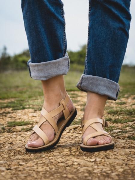 Sandale cuir femme