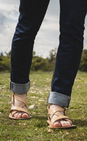 Sandales cuir homme français