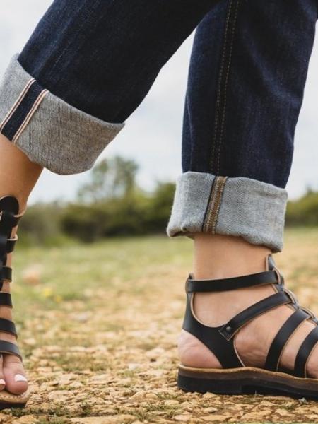 Sandale artisanale cuir